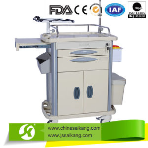 Durable Swivel Medical Clinical Nursing Cart pictures & photos