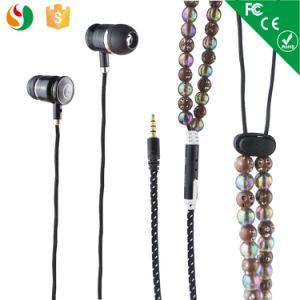 Shenzhen OEM Stereo Beads Pearl Necklace Earphones pictures & photos