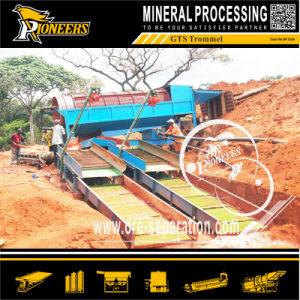 Large Mining Alluvial Gold Ore Processing Plant Mobile Trommel Screen