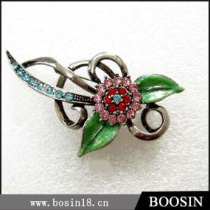 Custom Metal Twist Flower Brooch Wholesale #5137 pictures & photos