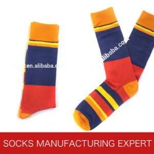 Men′s Striped Fashion Sock of Cotton pictures & photos