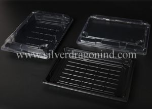 Custom Plastic PS Disposable Sushi Tray/Box, Food Grade pictures & photos