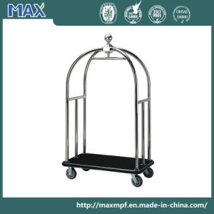Silver Hotel Lobby Porters Bellman Concierge Birdcage Luggage Trolley Cart pictures & photos