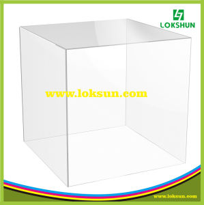 top grade clear plexiglass gift acrylic display case box for exhibition