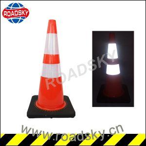 Reflective Flexible 700mm Orange 100% PVC Plastic Road Traffic Cones pictures & photos
