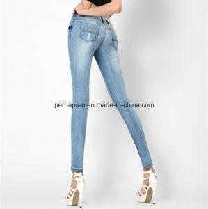 Fashion Sexy Skinny Denim Ladies Jeans Women Pants pictures & photos