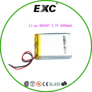 Polymer Li-ion Battery Exc985067 3.7V4000mAh Lithium Polymer Battery for Tablet pictures & photos