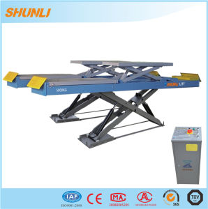 140mm on Ground Wheel Alignment Scissor Lift pictures & photos