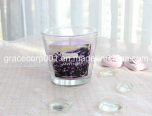 Glass Filled with Paraffin Wax 11*11*11cm pictures & photos
