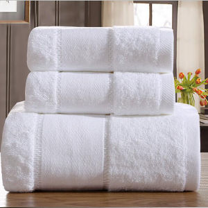 Ice White Super Absorbent Luxury Hotel & SPA Bath Towel (DPF107205) pictures & photos