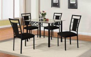 Metal Furniture Dining Set with Glass Top pictures & photos