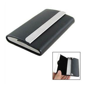 Double Sides Leather Metal Business Card Holder pictures & photos