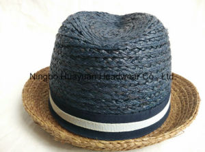 100% Raffia Sewn Braid Fedora Straw Hat pictures & photos