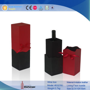 Handmade Wholesale Portable Cylinder Single Bottle Wine Box (6469R1) pictures & photos
