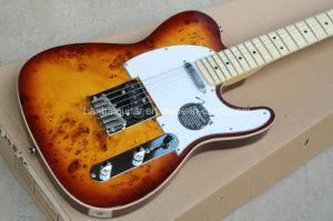 Hanhai Music / Yellow Brown Tele Style Electric Guitar with Maple Neck pictures & photos