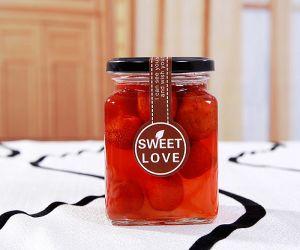 Square Shaped Glass Jar for Honey / Honey Glass Jar