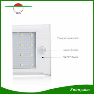 New Upgraded 20 LED Solar Motion Sensor Wall Lamp Garden Light with Replaceable 18650 Lithium Battery pictures & photos