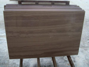 Coffee Brown Wooden Marble Slab for Hot Selling pictures & photos