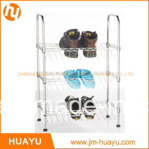 3-Tier Chrome Plated Wire Shoe Rack Shoe Shelving pictures & photos