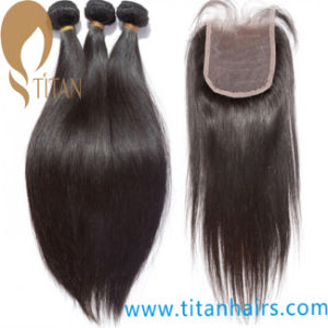 Brazilian Remy Human Hair Piece with Baby Hair by Hand Tied