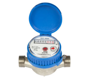 "Single Jet Brass Water Meter (1/2"" to 1"") pictures & photos"