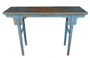 Chinese Antique Reproduction Blue Altar Table Lwd436 pictures & photos