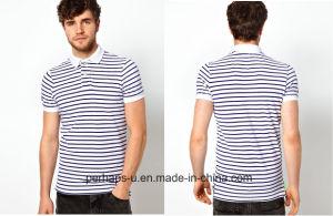 Mens Stripe Cotton Polo Shirt pictures & photos