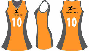Healong Latest Pattern Digital Print Netball Dress for Sport pictures & photos