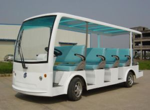 China 14 Seater Electric Tourist Passenger Bus Sightseeing Car pictures & photos