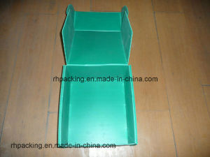 Four Open Box with Printing/PP Corrugated Plastic Box Turnover Box for Dringking and Food pictures & photos