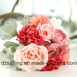 Hot Selling Artificial Bouquet Flower of Rose, Carnation Combination (SF15324) pictures & photos