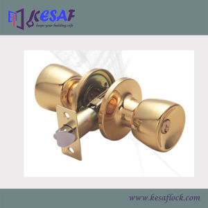 Indoor Entry Tubular Brass Knob Door Ball Locks (6111PB)