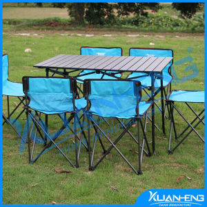 Outdoor Adjustable Aluminum Dining Portable Folding Table and Chair Set pictures & photos