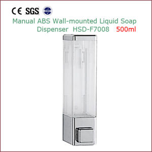 Manual Plastic Wall Mounted Liquid Soap Dispenser 500ml pictures & photos