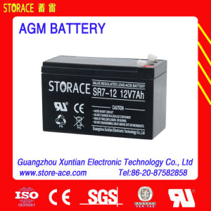 Sealed Lead Acid Battery, Small UPS Battery 12V 7ah (SR7-12) pictures & photos