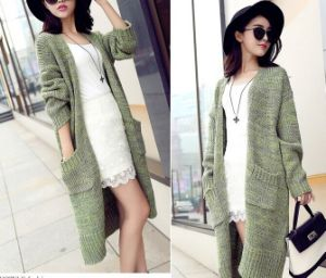 Long-Sleeved Cardigan Sweater Shawl Jacket Women (BTQ119) pictures & photos