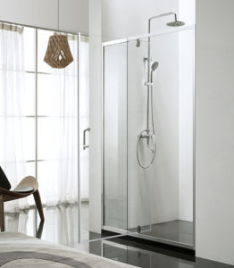 Two Panels with 6mm Swing Door Shower Screen pictures & photos
