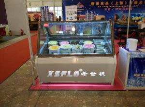Ice-Cream Popsicle Showcase, Gelato Display Refrigerator pictures & photos