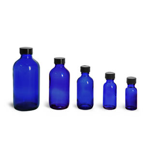 1oz 2oz Blue Essential Oil Perfume Glass Dropper Bottle pictures & photos