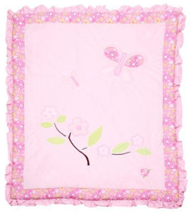 Velvet Patchwork Quilt in Pink Flower Super Sweet for Baby Girl Made in China pictures & photos