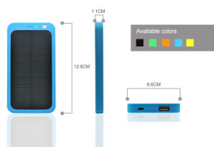 5000mAh Portable Mobile Solar Power Bank with RoHS pictures & photos