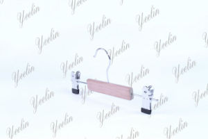 Wooden Pants Hanger with Small Clips Ylwd32512-Ntlb1 pictures & photos
