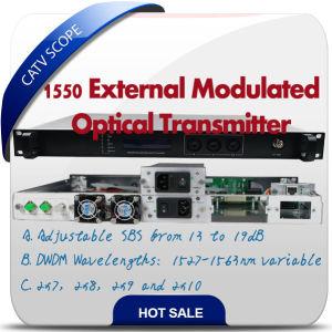 Hfc Network 1550nm Fiber Optical Transmitter Externally Modulated Transmitter pictures & photos