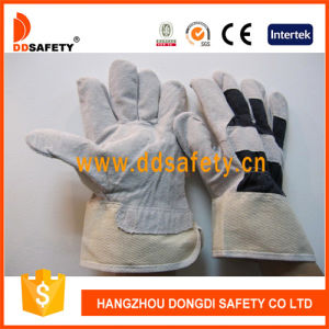 Cow Split Leather Glove Dlc212 pictures & photos
