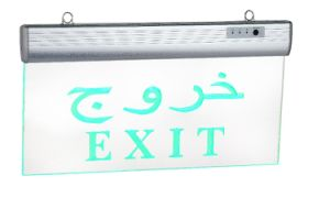 Aluminium + Acrylic Material LED Exit Sign Lamps with 2 Years Guaranttes pictures & photos