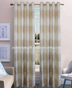 Jacquard Grommet Panel Window Curtain (HR14WT111) pictures & photos