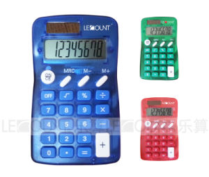 8 Digits Dual Power Pocket Calculator with Various Optional Colors (LC320)