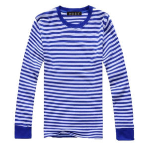 2015 New Style Fashion Striped Cotton Round Neck Man′s Shirt pictures & photos