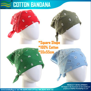 Wholesale Pricing Unisex Fashion 100% Cotton Printing Bandana pictures & photos