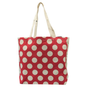 Red Canvas Tote Bag & 100% Cotton Shopping Bag